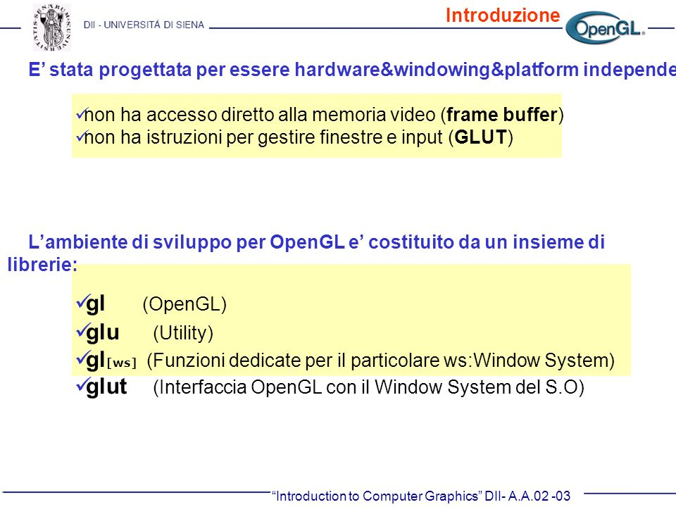 gl[ws] (Funzioni dedicate per il particolare ws:Window System)